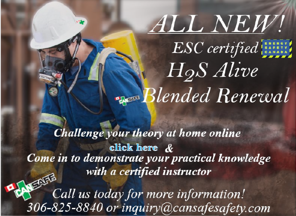 Now Available  H2S Alive Blended Renewal – ESC Certified