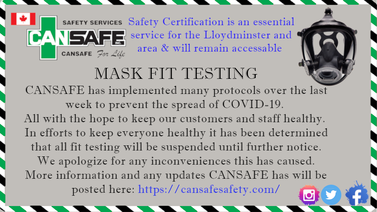 Mask Fit Testing -Suspended until further notice